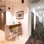 Telepark Serviced Office for Rent pantry and corridor