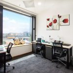 Telepark Serviced Office for Rent window unit with furniture